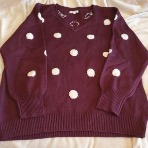 Maurices Polka Dot Sweater